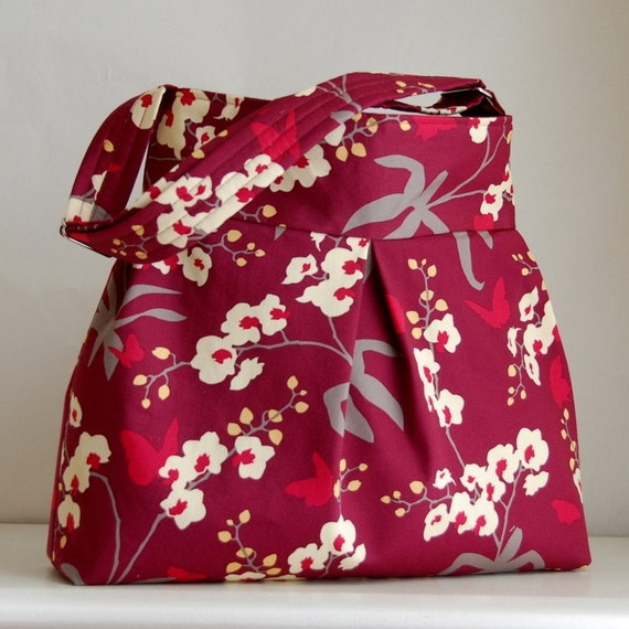 Orchid Mulberry Pleated Hobo 42