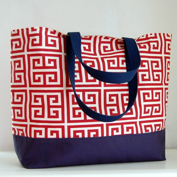 Towers Red XL Extra Large BIG Tote Bag  / Beach Bag