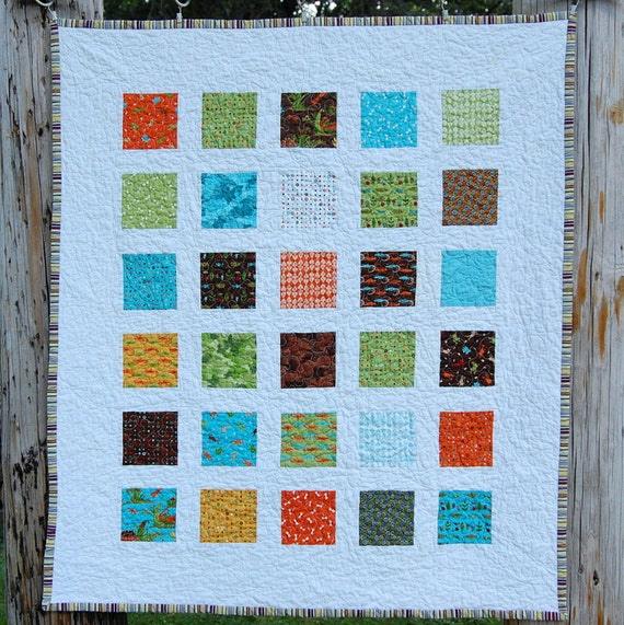 Meadow Friends Windowpanes Quilt - READY TO SHIP