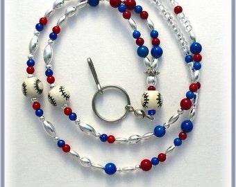 Baseball Lanyard/Id Badge Holder/Id Necklace
