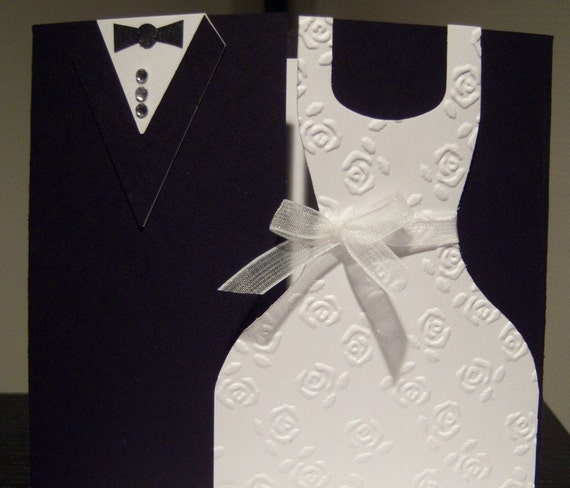 Black Tie Wedding Card