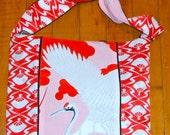 Fumiko Bag - Cranes and Fans