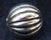 Large Silver Metal Ball Bead