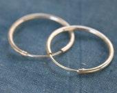 1 Pair Sterling Silver hoop earrings