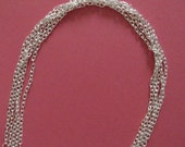 RESEVRED FOR SARA 12 silver-plated elegant necklace cable chains 60cm 24 inches - 12 pieces