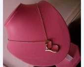 Super Rare - Hot Pink Leatherette Jewellery Jewelry Display Bust - on stand, fantastic for geekery, girly and funky necklaces