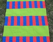 Stacked Stripes - Modern Patchwork Baby Quilt, Crib Quilt, Kids Quilt, Lap Quilt, or Quilted Throw