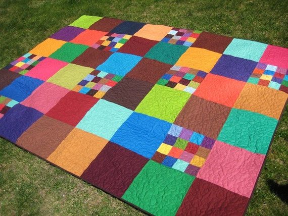 Modern Patchwork Bed Quilt - Patches of Patchwork