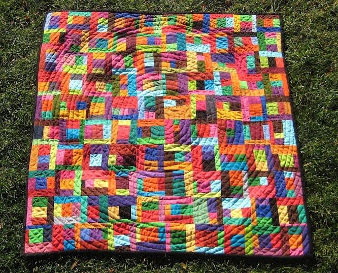 Modern Patchwork Quilt Patterns Free : Scrap Happy Modern Patchwork Baby Quilt