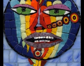 Psychedelic Snifter - Mosaic Fantasy Face No. 16