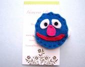 Grover Handmade Felt Hairclip