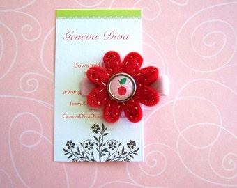 Cherries Jubilee Felt Flower Hairclip