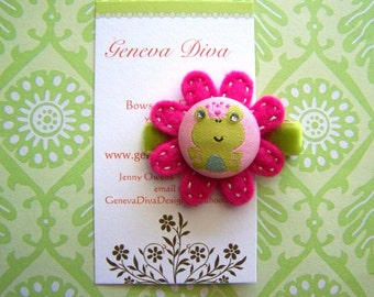 Little Frog Princess Felt Flower Clip