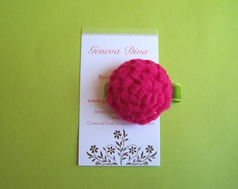 NEW...Hot Pink Felt Mum Hairclip