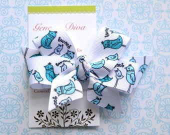 Tweet Bluebirds Classic Diva Bow