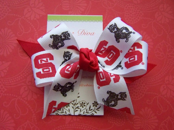 NC State Wolfpack Hairbow