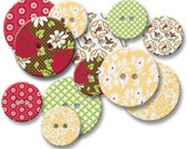 Jenni Bowlin Chipboard Buttons - Front Porch