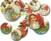 Chipboard Buttons - Vintage Christmas Images - Jenni Bowlin