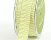 Striped Twill - Celery - 3/4 Inch - 2 Yards - May Arts