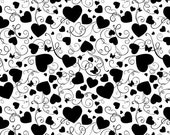 Cover A Card Stamp - Heart Swirls - 5.75 x 5.75 inches - Impression Obsession