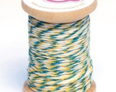 Twine - Turquoise, Yellow and White - On Spool - Queen and Company
