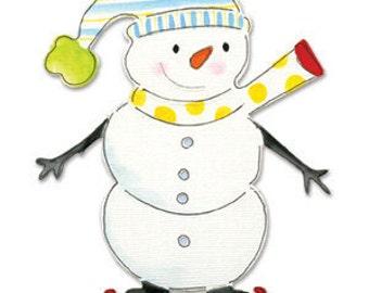Sizzix Bigz Die - Snowman w/Skates