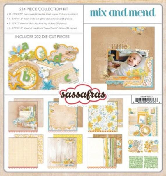 Final Closeout -  Mix and Mend - 12x12 Collection Kit - Sassafras Lass