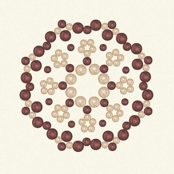 Opaline - Basic Grey - Designer Half Pearls - Caliopsis - Wine