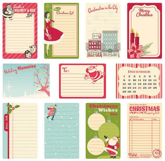 Journal Cards - Holiday Style - October Afternoon