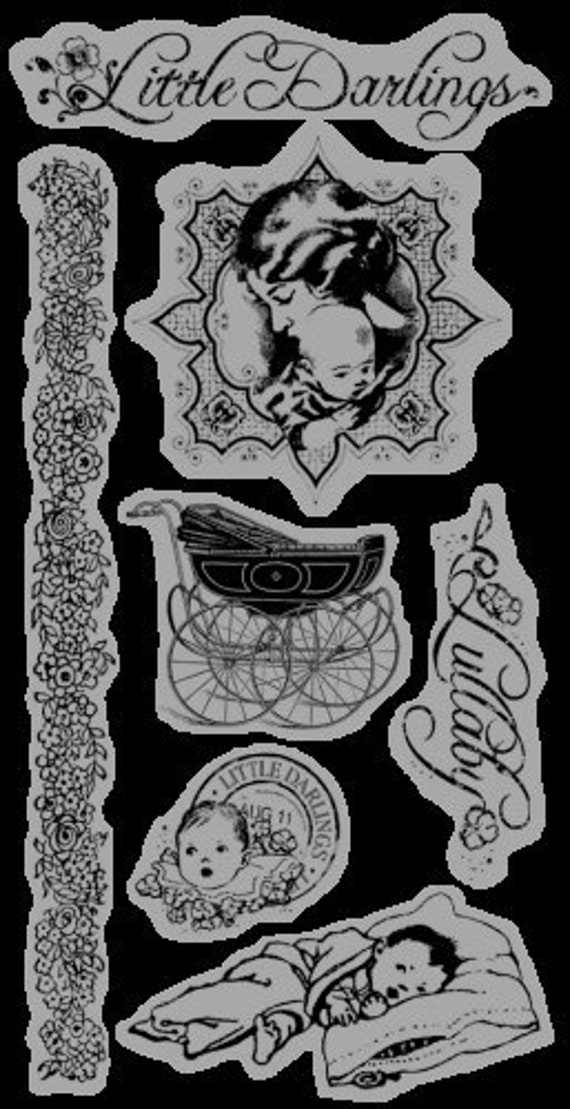 Cling Rubber Stamp Set 1 - Little Darlings - Graphic 45