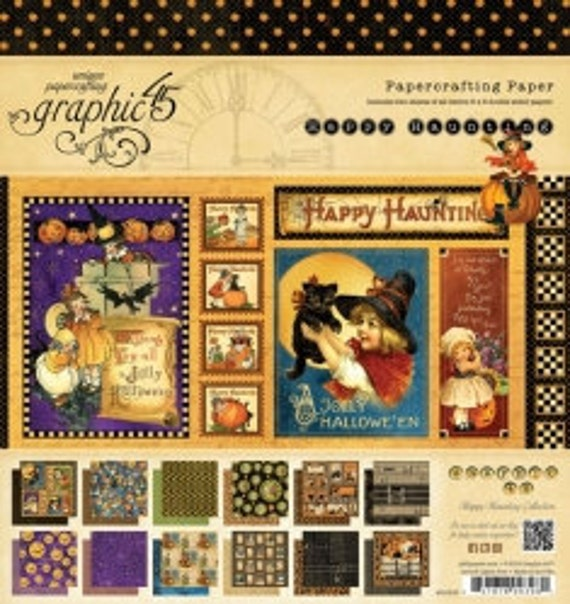 Happy Haunting - Graphic45 - 8x8 Paper Pad - New June 2012