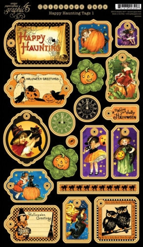 Happy Hauntings - Graphic 45 - Brand New June 2012 - Chipboard 1