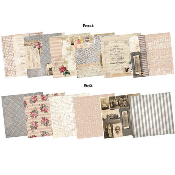 Trousseau Paper Collection - 8x8 - 7gypsies - New June 2012