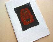 Hot Lava Monster (mini print / trading card)