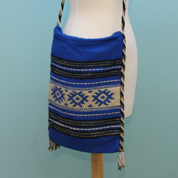 Vintage Wool Blanket Hippie Shoulder Bag