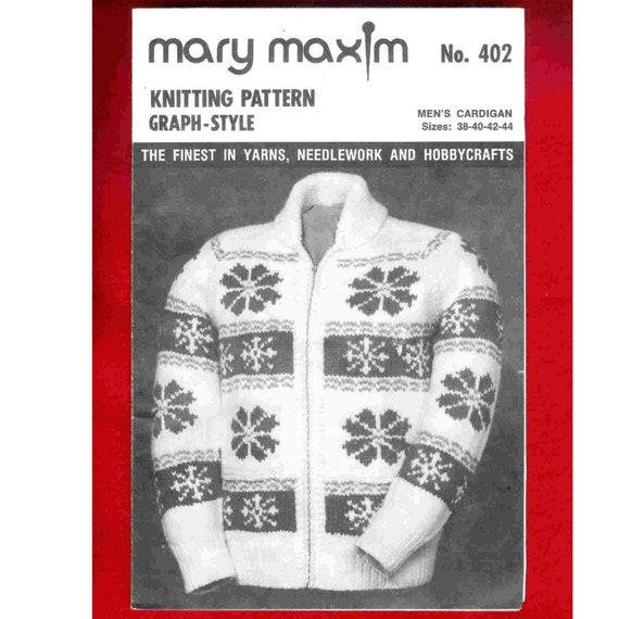 Mary Maxim Graph-Style Knitting Pattern 402 by CenterStageVintage