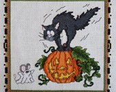 Ghost Mouse Halloween Cross Stitch Pattern