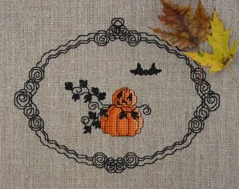 Happy Pumpkinmen Cross Stitch Pattern