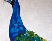 Original Painting Shake Your Tail Feathers Peacock