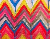 Custom ikat chevron 16x20 Painting by Jennifer Moreman