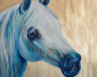 "Whisper Original Horse Painting 36x48"" painting by Jennifer Moreman"