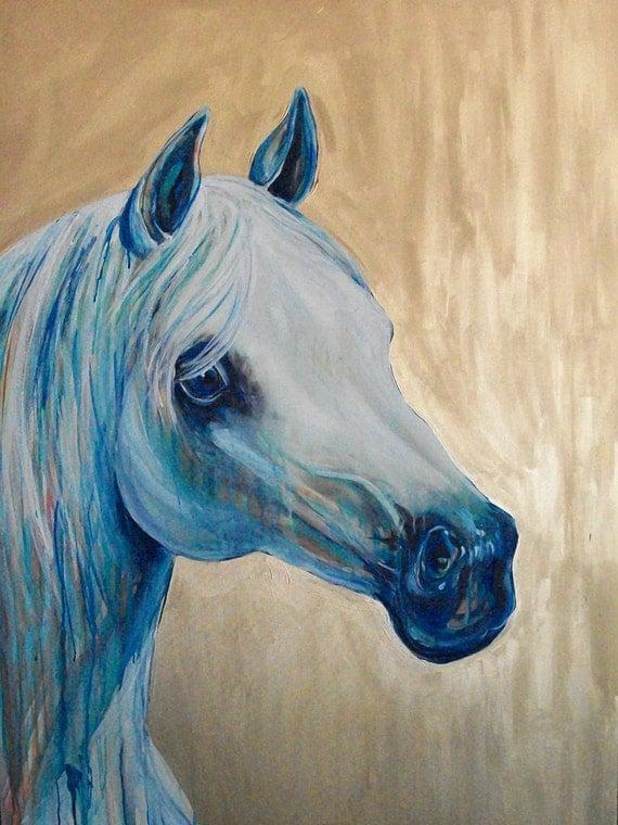 "Whisper Original Horse Painting 36x48"" painting by Jennifer Moreman"