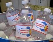 Printable Rocket Water Bottle Labels