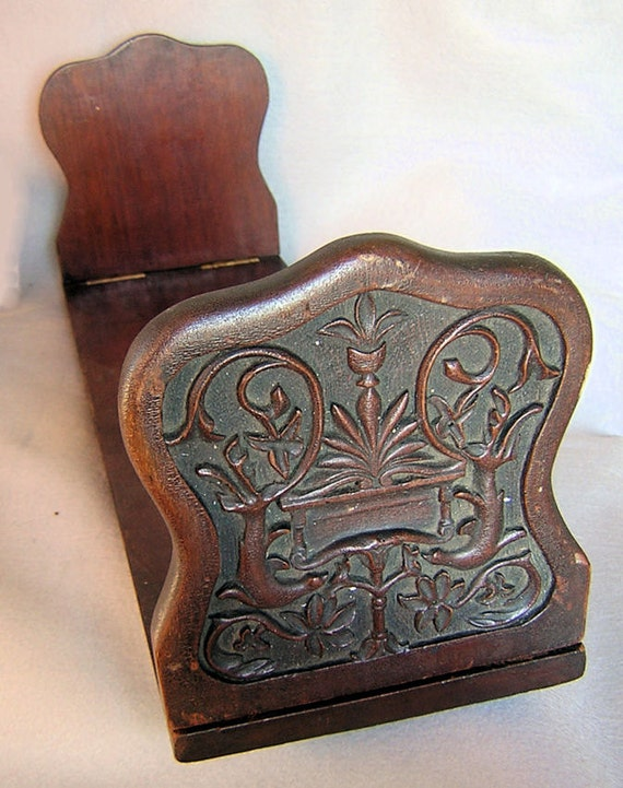 Hand Carved Bookends with Heraldry Design & Sea Lions or Seals