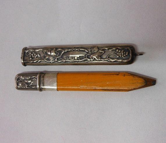 Antique Art Nouveau Sterling Silver Chatelaine Pencil