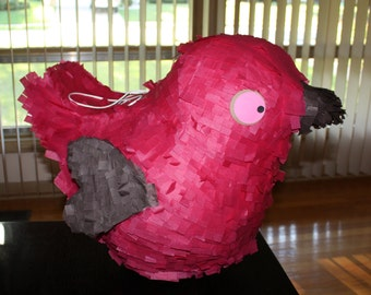 Bird Piñata, Pink Bird Piñata, Dove Piñata, Wedding Gift Card Box, Piñata Game