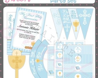 Boy First Communion Party Printable
