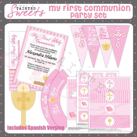 Girl First Communion Party Printable