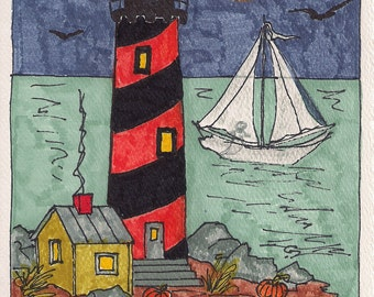 Halloween lighthouse HW001