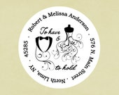 Return address labels, stickers, tags, envelope seals, round-- To have and to hold